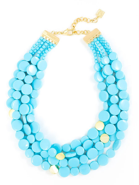 Oh My Dots! Beaded Necklace BLUE