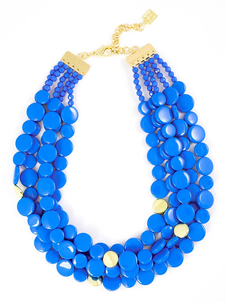 Oh My Dots! Beaded Necklace cobalt