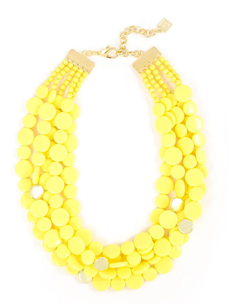 Oh My Dots! Beaded Necklace yellow