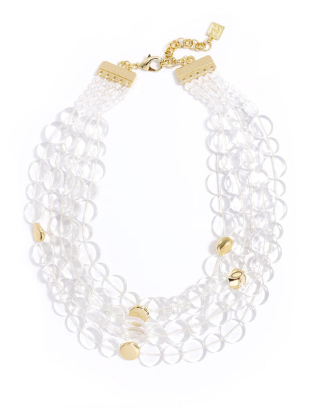 Clear Mod Bib Necklace clear