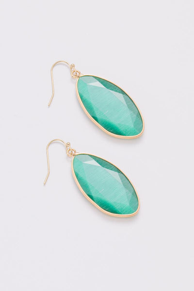 Nakamol Emerald Green Teardrop Earrings