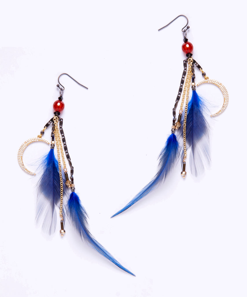 glass dangles earrings blue dangle cobalt elements products