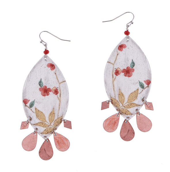 Nakamol Flower Metallic Drop Earrings