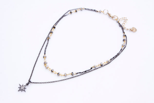 Nakamol Layered Necklace with Star Charm
