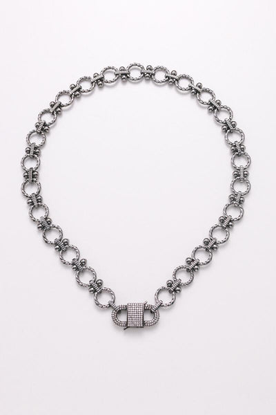 Nakamol Gunmetal Statement Chain Necklace