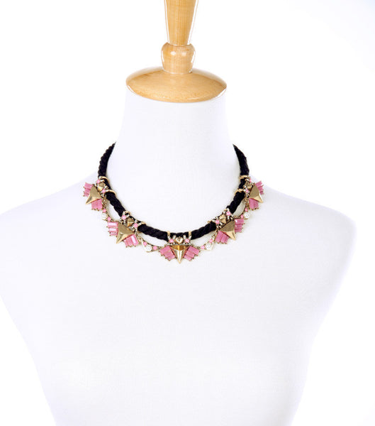 Nautical Pink Statement Necklace model