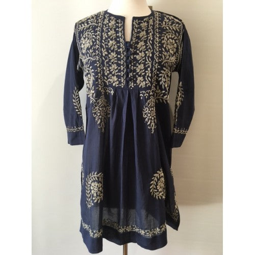 Hand Embroidered Tunic silver