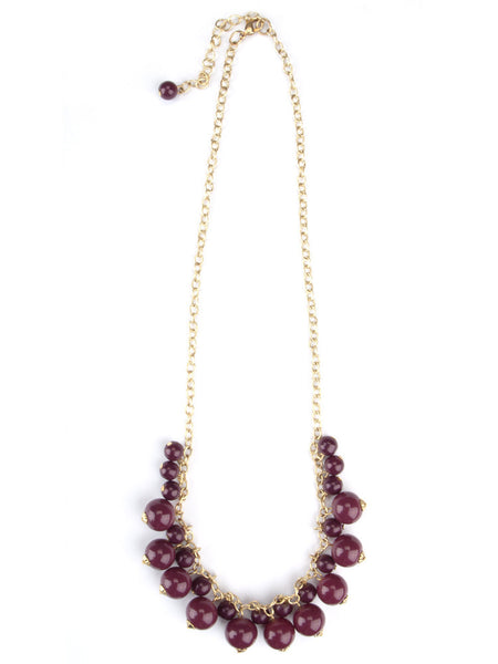 Around in Circles Necklace - Burgundy - Girl Intuitive