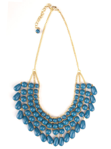 Malabar Beaded Necklace Blue