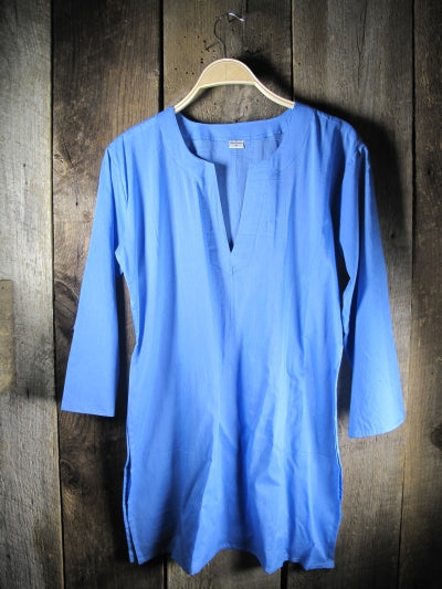 Solid Colors Cotton Tunic Tops