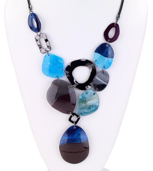 Ocean Bib Resin Necklace