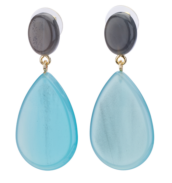 Ocean Teardrop Resin Earrings