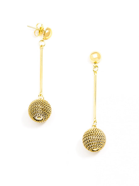 Ombre Ball Earrings gold