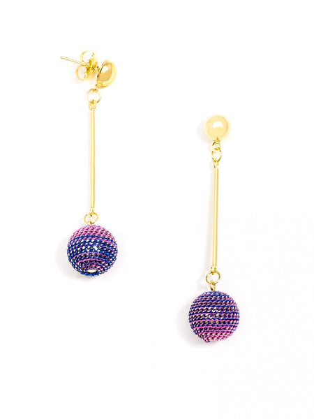 Ombre Ball Earrings pink