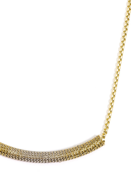 Ombre Bar Necklace gold