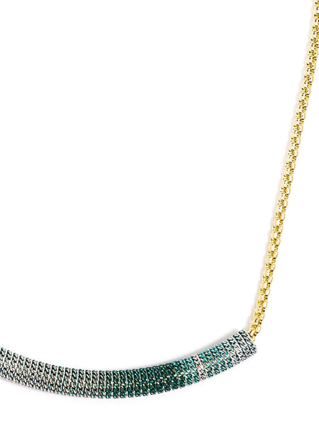 Ombre Bar Necklace green