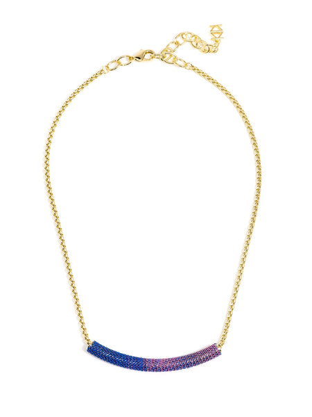 Ombre Bar Necklace pink