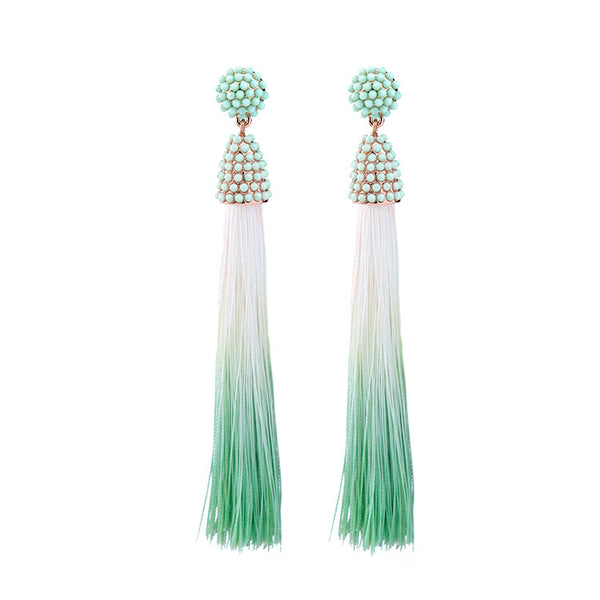Ombre Tassel Earrings mint