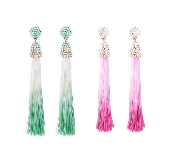 Ombre Tassel Earrings
