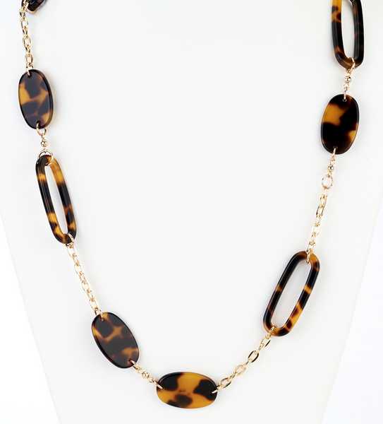 Oval Tortoise Long Necklace