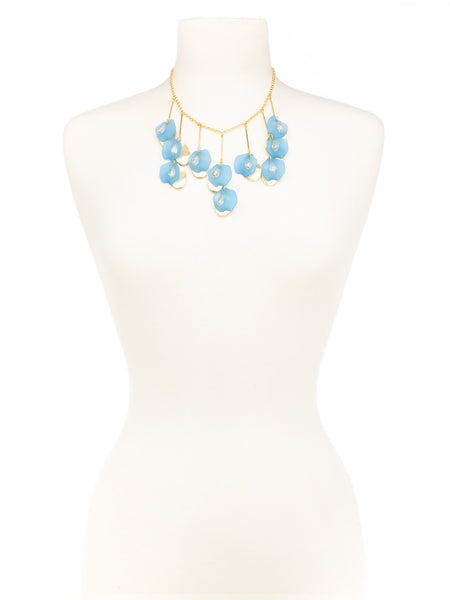 Petal To The Metal Necklace blue