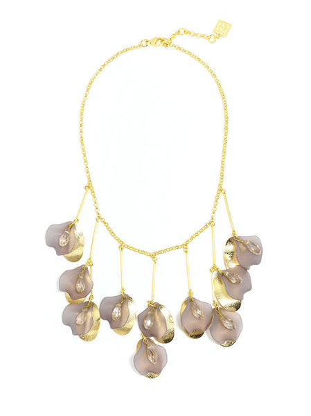 Petal To The Metal Necklace gray