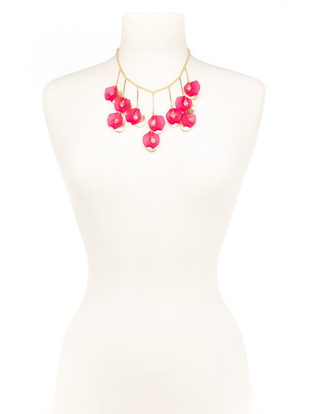 Petal To The Metal Necklace pink