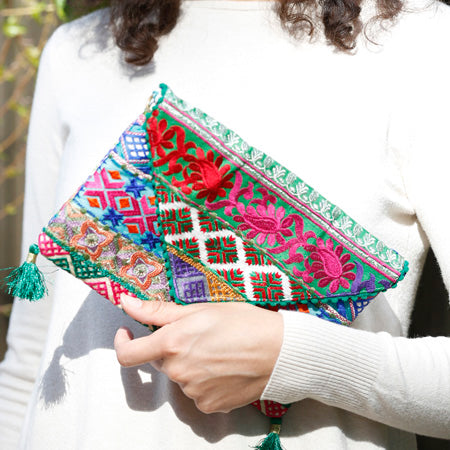 Phulkari Bohemian Clutch model