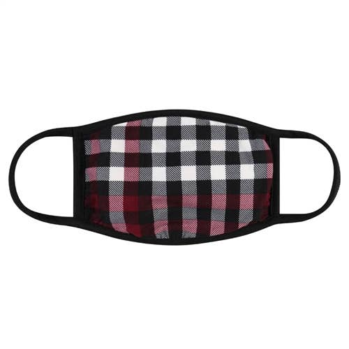 Plaid Reusable Face Masks for Adults