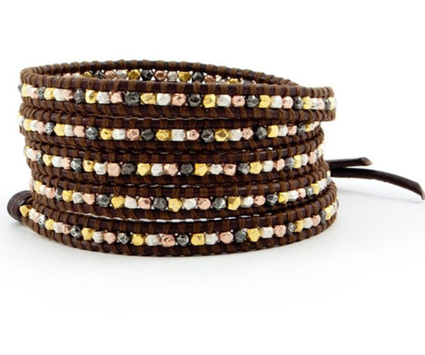 potpourri wrap leather bracelet
