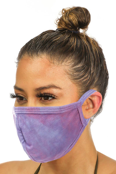 Purple Dye Adults Face Mask