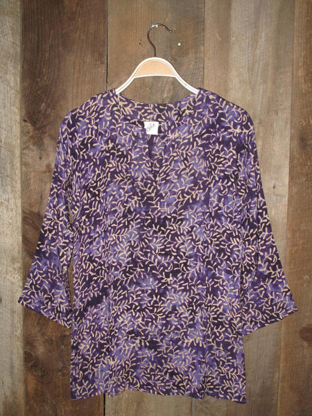 Batik Tunic Purple - Girl Intuitive