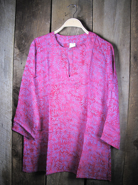 Batik Tunic with Lilac Corals