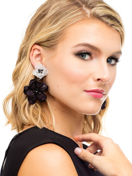 Realistic Floral Drop Earrings model