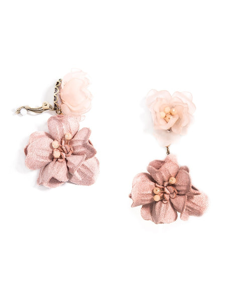 Realistic Floral Drop Earrings rose