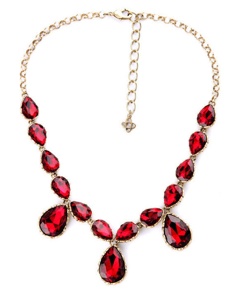 Red Sparkling Necklace
