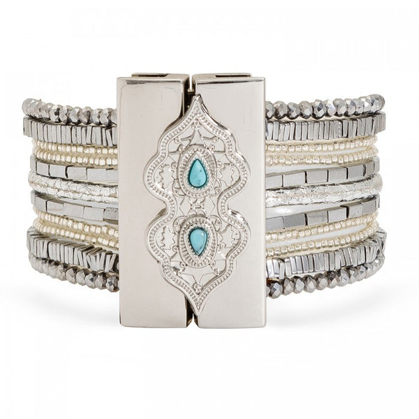 Hipanema Santafe Silver Women's Bracelet