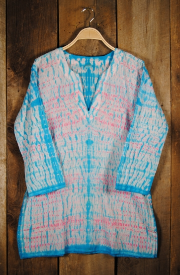 Shibori Dyed Tunic - Blue