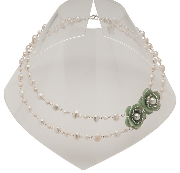 Delicate Fresh Waterpearl Necklace silver