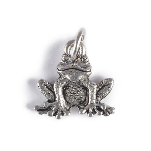 Frog Charm Pendant silver