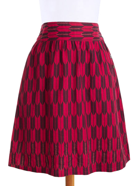 On the Move Skirt Red f