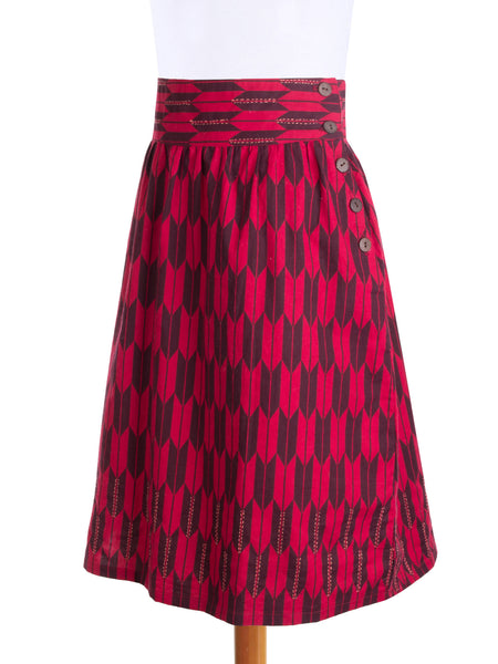 On the Move Skirt Red s