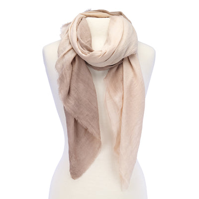 Soft Ombre Scarf Beige