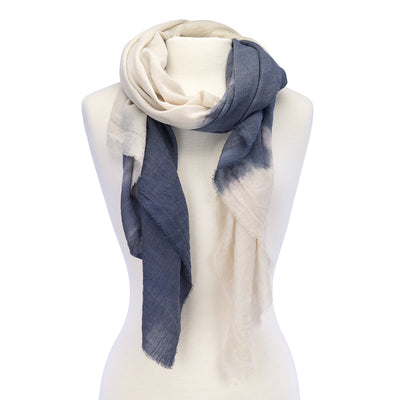 Soft Ombre Scarf Blue