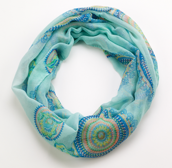Spiral Scarf infinity green