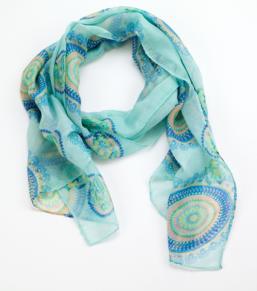 Spiral Scarf oblong green