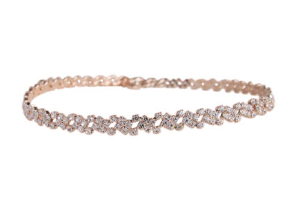 Swarovski Crystal Choker rose gold