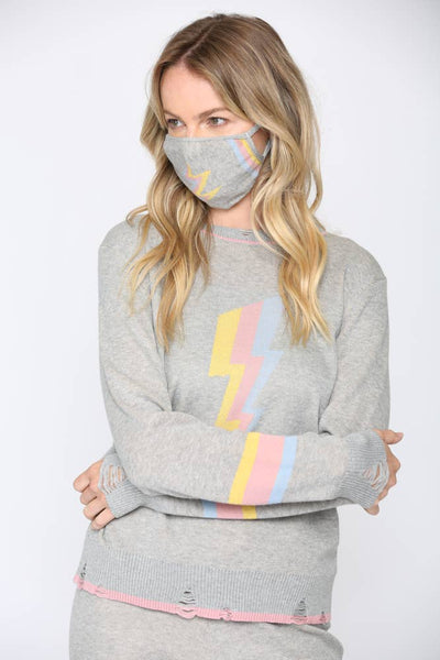 Lighting Bolt Sweater with Matching Mask
