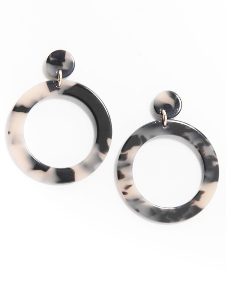 Torti-ful Mod Earrings tan