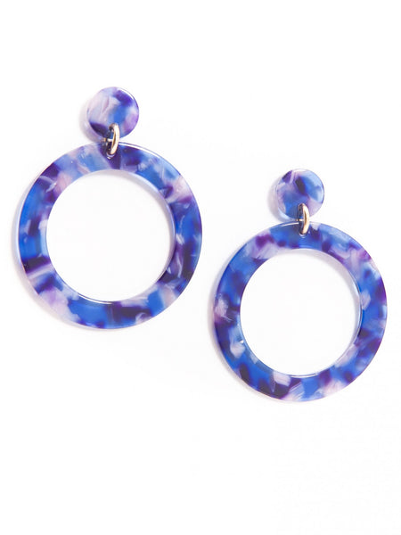 Torti-ful Mod Earrings blue